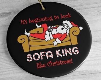 Sofa King Santa Christmas Ornament / Funny Rude Santa Clause Tree Decorations