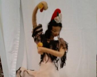 Handmade Spanish Flamenco Dancer Doll - Circa 1990 - Bought New in Spain