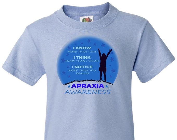 Apraxia Awareness, Youth Girl T Shirt, Apraxia of Speech, Childhood Apraxia, Apraxia Warrior, Apraxia Shirt, Special Needs, Non Verbal,
