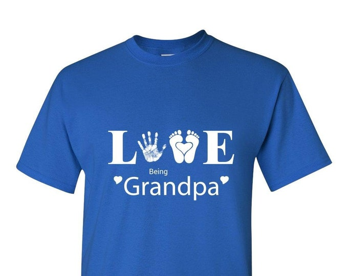 Grandpa TShirt, Love Being Grandpa, Royal Blue, Gift for Men, Him, Best Friend Gifts,