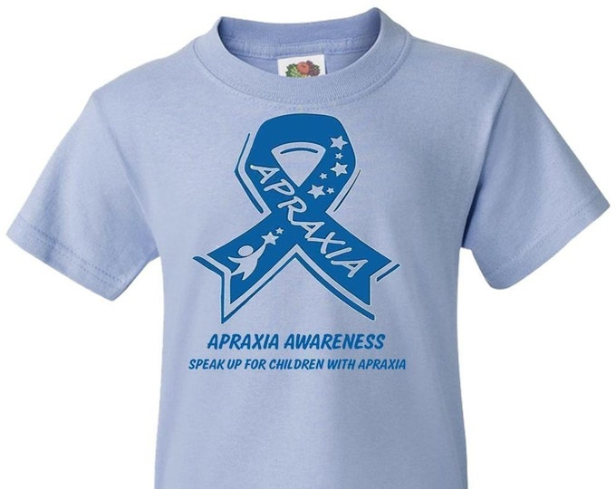 Apraxia Awareness Youth tshirt t-shirt t shirt, apraxia of speech, childhood apraxia, Apraxia Mom Dad, nonverbal speech,