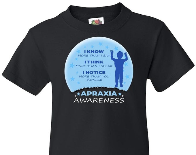Apraxia Awareness, Youth Boy T Shirt, Apraxia of Speech, Childhood Apraxia, Apraxia Warrior, Apraxia Shirt, Special Needs, Non Verbal,