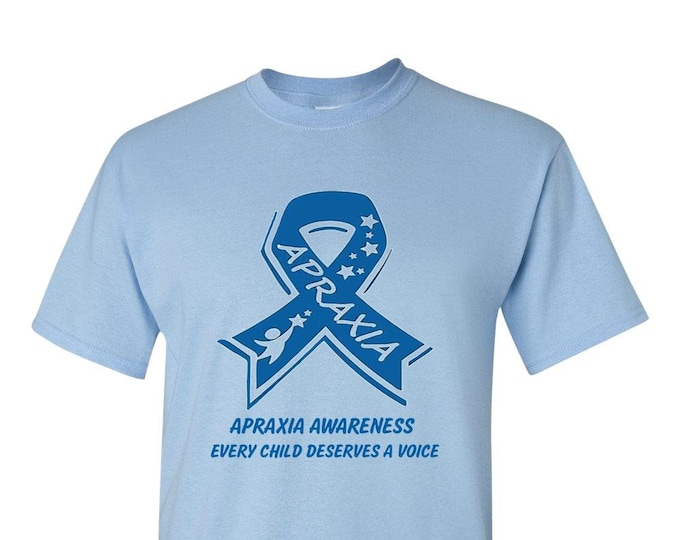 Apraxia Awareness Adult TShirt, t-shirt t shirt, apraxia of speech, childhood apraxia, Apraxia Mom Dad, nonverbal speech,