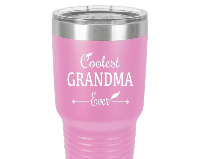 Tumbler - Coolest GRANDMA Ever, Gift for Grandma, Her, women, travel,