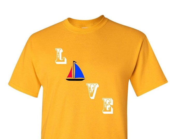 Love Sailing T Shirt, Sailing Gift, ocean sailing, sailing tshirt, sailing t-shirt, sailboat, sailing shirt, nautical, lighthouse, yachting,