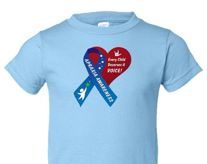 Apraxia Awareness, Toddler T Shirt, Apraxia of Speech, Childhood Apraxia, Apraxia Warrior, Apraxia Shirt, Special Needs,