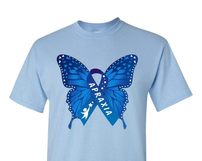 Apraxia Awareness Butterfly -- Adult Unisex T-Shirt