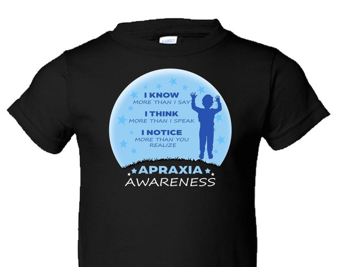 Apraxia Awareness, Toddler T Shirt, Apraxia of Speech, Childhood Apraxia, Apraxia Warrior, Apraxia Shirt, Special Needs, Non Verbal,