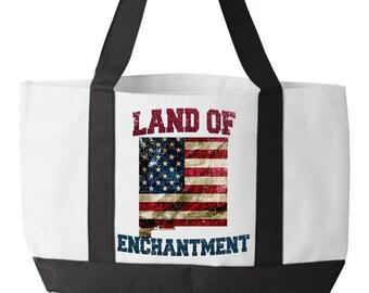 NM, Tote Bag, New Mexico, Santa Fe, Albuquerque, White Sands, Carlsbad Caverns, Native American, Navajo, Pueblo, Land Of Enchantment, Gifts,