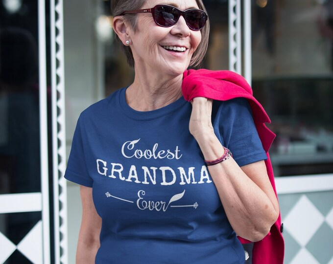 Grandma TShirt, Royal Blue, Personalized, Custom T-Shirt, Gift for Her, Women, Best Friend, Gifts,