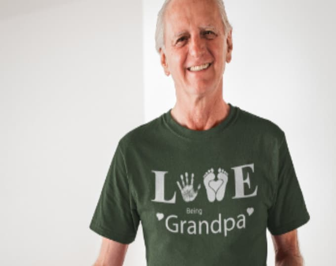 Grandpa TShirt - Love Being, Forest Green, Gift for men, Him, Best Friend,