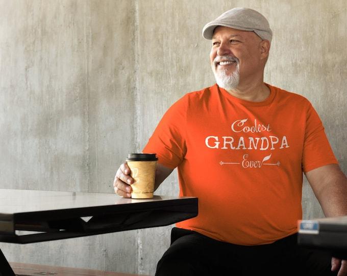 Grandpa T-Shirt, Personalized, Custom, Inspirational, Gift for Men, Him, Best Friend, Orange T Shirt, TShirt