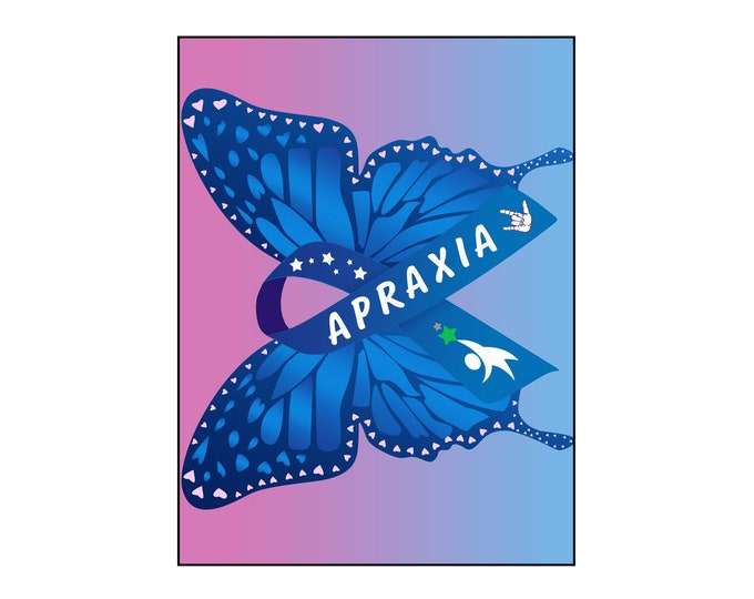 Apraxia, Office Wall Art, Speech Language Pathologist, Awareness,