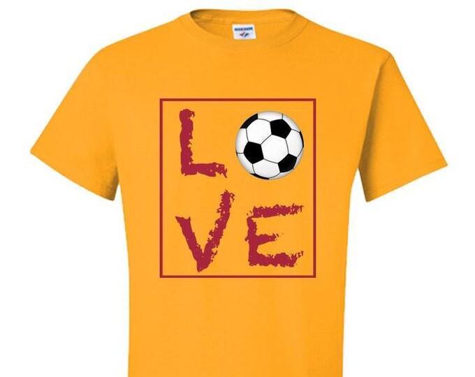 Soccer Gifts for Men, Live Love Soccer Shirts, Soccer Mom T-Shirt,