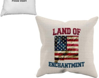 NM, Pillow Case Insert, New Mexico, Santa Fe, Albuquerque, White Sands, Carlsbad Caverns, Native American, Navajo, Land Of Enchantment,