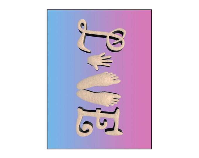 Canvas Wall Art, 1 Panel, Little Hands & Feet, Custom Gifts, Inspirational, Gift for Men Women, Housewarming, Wedding,