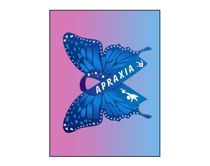 Apraxia, Office Wall Art, Speech Language Pathologist,