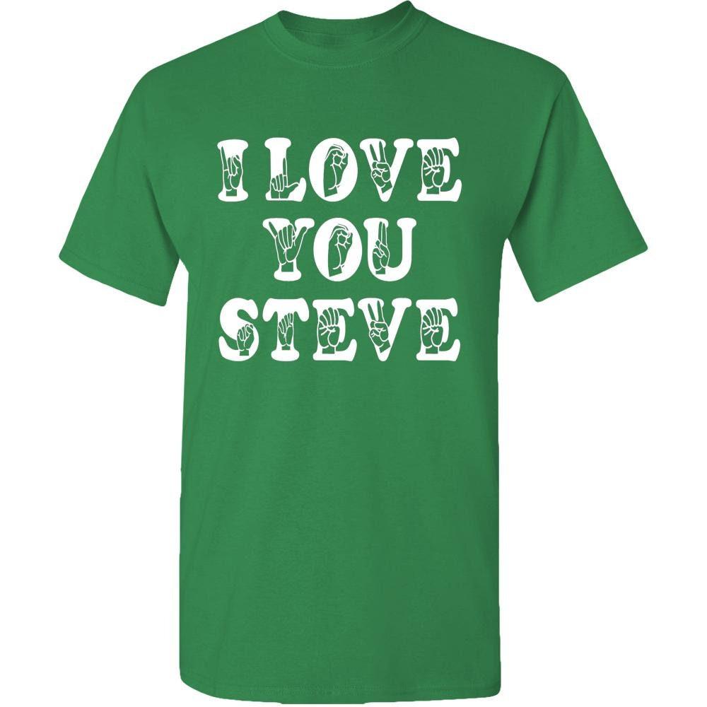 ASL ich liebe dich Steve Erwachsene Unisex Tee