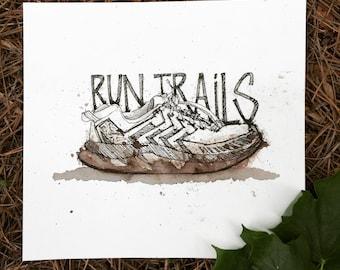 Custom Running Shoe Portrait