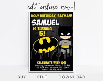 Batman Invitation InvitesBatman Superheroes Dark KnightBatman Birthday InvitationSuperhero