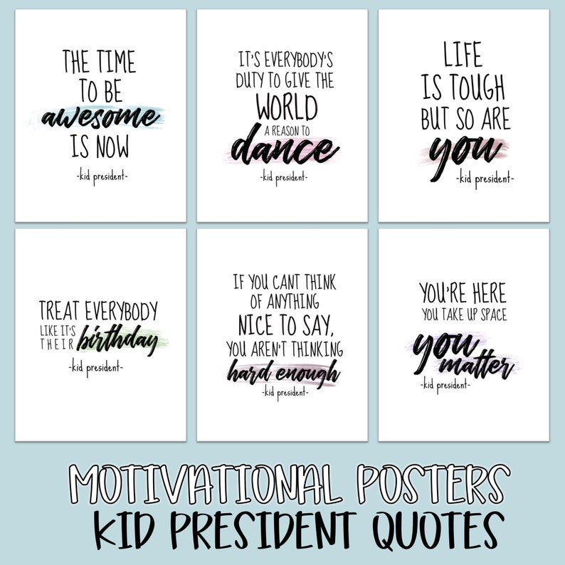 photo relating to Printable Classroom Posters referred to as Printable Clroom Motivational Posters - Youngster PRESIDENT Rates/ Clroom Decor / Business Decor / Electronic Artwork / Enhancement Frame of mind / Poster Artwork