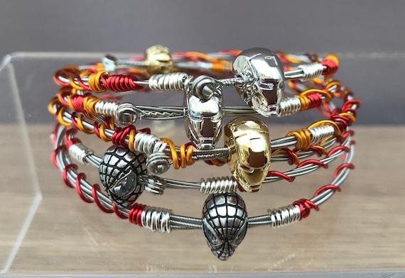 upcycled jewellery,StringsGoneWild Flower bracelet,guitar gift guitar string bangle Music gift handmade