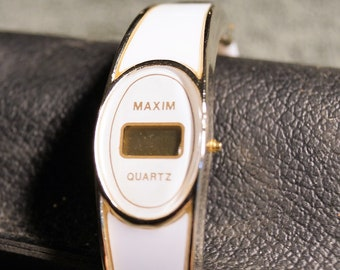 70's Mod Bracelet Watch  Maxim Quartz Watch
