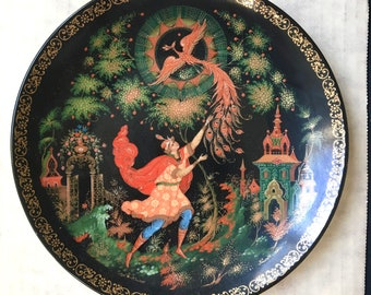 The Tsarevich and the Firebird Vintage Russian Collectible Plate