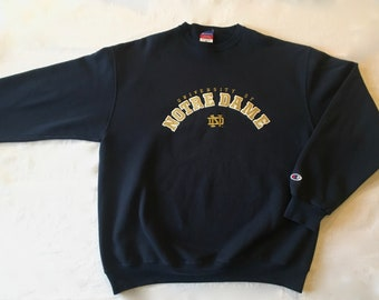 ac013422 University of Notre Dame Champion Pullover Sweatshirt XL