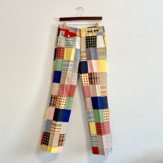 Vintage Patchwork Pants Country Britches, 70s/80s… - image 1