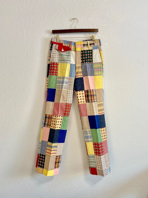 Vintage Patchwork Pants Country Britches, 70s/80s… - image 2