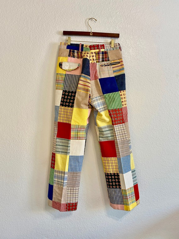 Vintage Patchwork Pants Country Britches, 70s/80s… - image 3