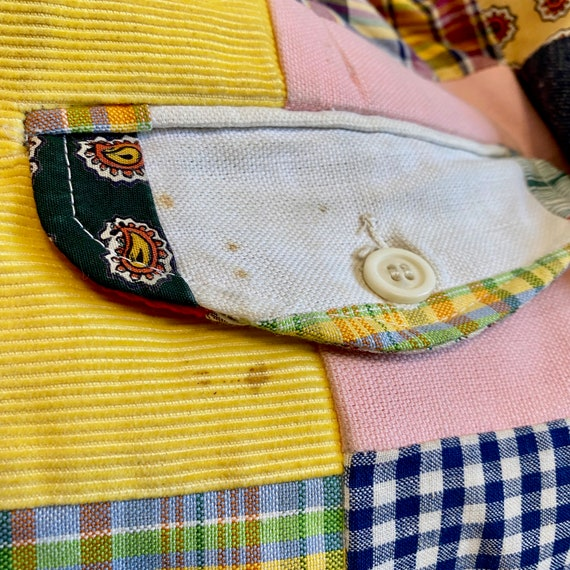 Vintage Patchwork Pants Country Britches, 70s/80s… - image 8