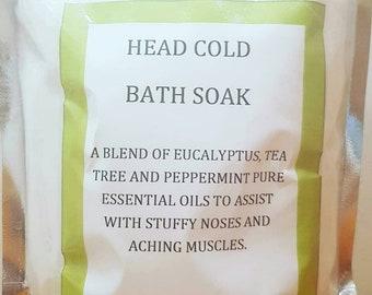 Bath Soak, Bath salts, flu season bath