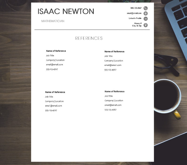 Modern Design Creative Modern Resume Template for Word INSTANT DOWNLOAD Resume Template