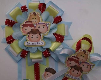 Toy Story Tsum Tsum Baby Shower Corsage Set