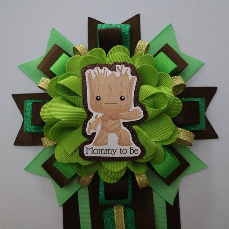Baby Groot Baby Shower Mommy to be Corsage