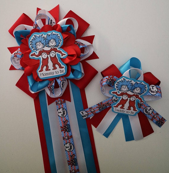 Dr Seuss Thing 1 And Thing 2 Themed Mommy To Be Baby Shower Etsy
