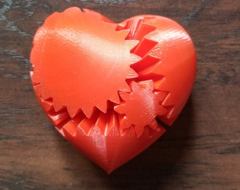 3D Printed Gear Heart