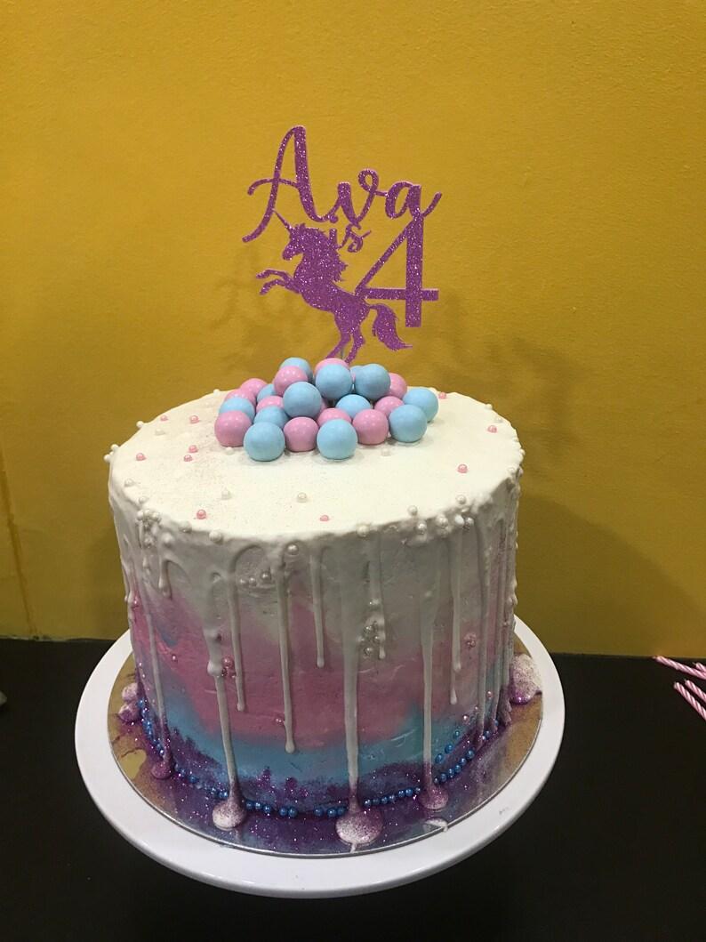 Custom Cake Topper Birthday Personalised