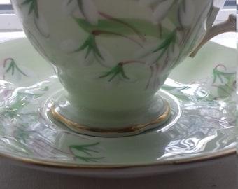 Royal Albert , bone china, tea cup  - Laurentian snowdrop