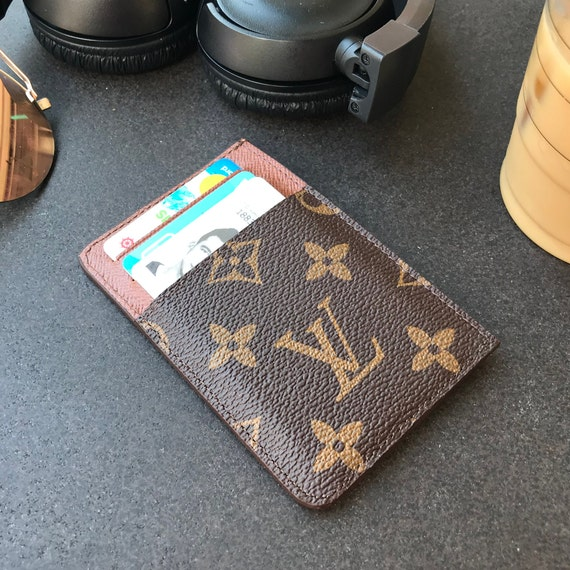 59766c359f51 card holder handmade leather wallet upcycled louis