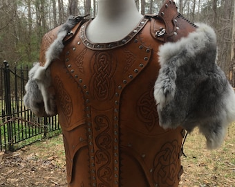 Leather Armor - Viking Larp Ren Handtooled