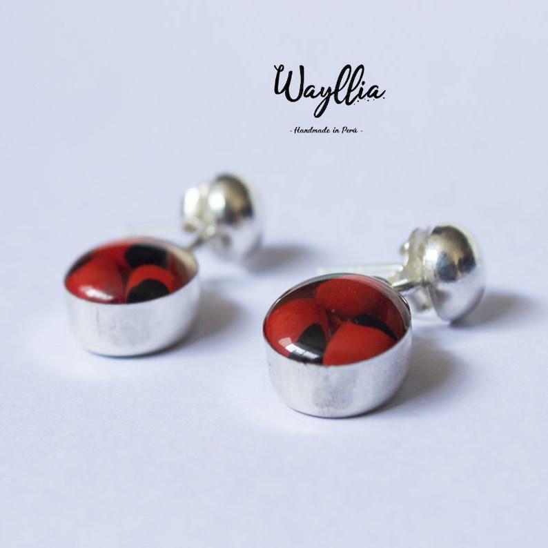 Peru Earrings Seeds Silver Jewelry Huayruro Earrings Accessories Handmade Jewelry Fine Jewelry Silver Cuff Peruvian silver 950