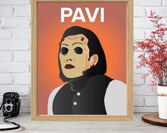 PAVI LARGO Print - Minimalist Poster Drawing Art - The Genetic Opera