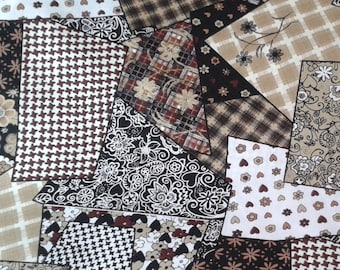 brown and black patchwork