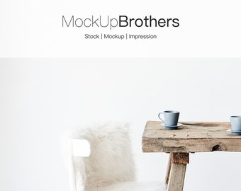 Download Free Farmhouse Mockup, Dining room mockup, white wall mockup, nordic kitchen interior, background mockup rustic mockup poster, instagram mockup PSD Template