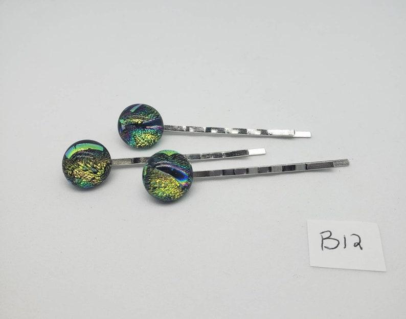 hair barrettes,unique hair accessories prom hair accessories hair jewelry 3 piece set Glass Bobby pins hair accessories Fused glass