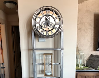 Custom Stainless Steel Grandfather Clocks, and other Home Decor Items.