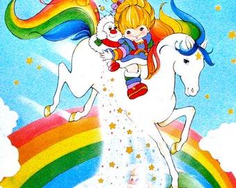 Rainbow Brite edible image